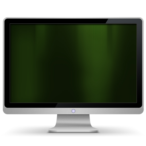 Computer, Dark, Green, My Icon