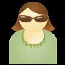 Green, Sunglass, Woman Icon