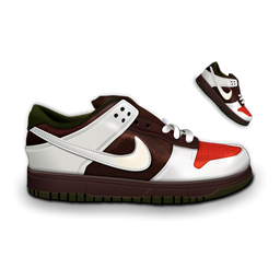 &Amp, Black, Dunk, Nike, White Icon