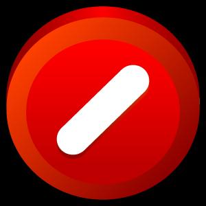Button, Cancel Icon