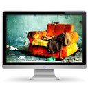 Armchair, Computer, My, Old Icon