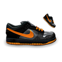 Dark, Dunk, Nike, Orange Icon