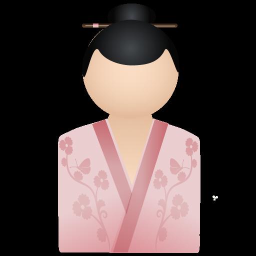 Kimono, Pink, Women Icon