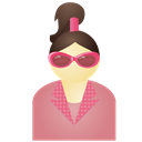 Pink, Sunglass, Woman Icon