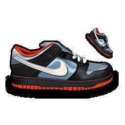 &Amp, Black, Blue, Dunk, Nike Icon