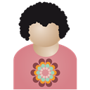 Afro, Flower, Man Icon