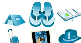 Summer Blue Icons