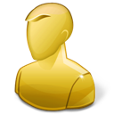 Anonymous, Regular, User, Yellow Icon