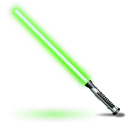 Green, Light, Saber, Star, Wars Icon
