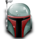 Boba, Fett, Helmet, Star, Wars Icon