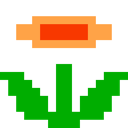 8bit, Flower, Retro Icon