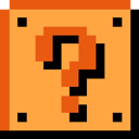Block, Question, Retro Icon