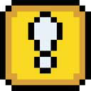 Block, Exclamation, Retro Icon