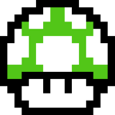 1up, Mushroom, Retro Icon