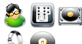 Disc Jockey Icons