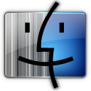 Blue, Finder, Gray Icon