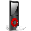 And, Black, Ipod, Nano, Off, Red Icon