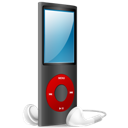 And, Black, Ipod, Nano, On, Red Icon
