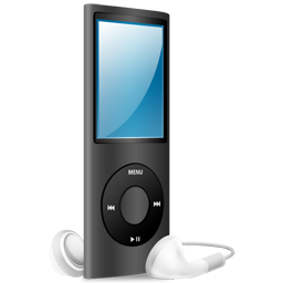 Black, Ipod, Nano, On Icon