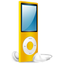 Ipod, Nano, On, Yellow Icon