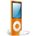 Ipod, Nano, On, Orange Icon