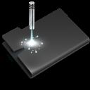 Black, Laser Icon