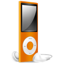 Ipod, Nano, Off, Orange Icon
