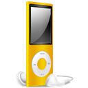 Ipod, Nano, Off, Yellow Icon