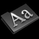 Black, Fonts Icon