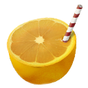 Orange, Straw Icon