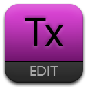 Purple, Text Icon