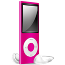 Ipod, Nano, Off, Pink Icon