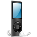 Black, Ipod, Nano, On Icon
