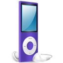 Ipod, Nano, On, Purple Icon