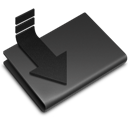 Black, Downloads Icon