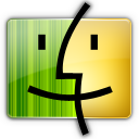 Finder, Gray, Yellow Icon