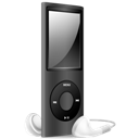 Black, Ipod, Nano, Off Icon