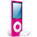 Ipod, Nano, On, Pink Icon