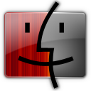 Finder, Gray, Red Icon