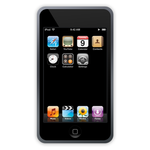 Ipod, Menu, Touch Icon