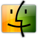 Finder, Green, Orange Icon