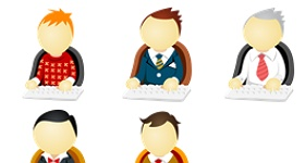 Office Men Icons