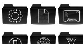 Black Elegant Icons
