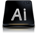 Adobe, Black, Cs, Illustrator Icon