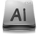Adobe, Cs, Gray, Illustrator Icon