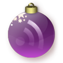Christmas, Feed, Purple Icon