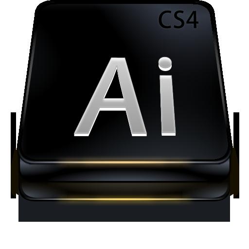 Adobe, Black, Cs, Illustrator Icon