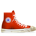 Converse, Dirty, Red Icon