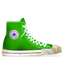 Converse, Dirty, Green Icon