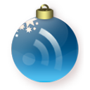 Blue, Christmas, Feed Icon